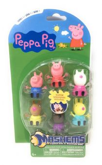 PEPPA PIG - Mash'ems - Squishy Fun - 6 FIGURE PACK - NEW